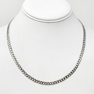 Jewelry - NWT 14k White Gold Curb Link Chain Necklace 18""